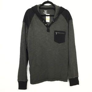 MENS: NWT Bar III Thermal Hoodie Shirt
